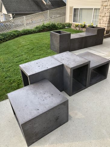 Backyard Bench Planters